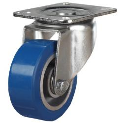 125mm Elastic Polyurethane On Aluminium Centre 80 Shore A Swivel Castors