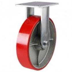 150mm Heavy Duty Polyurethane On Cast Iron Centre Fixed Castors