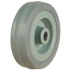 125mm Grey Rubber On Plastic Centre Castor Wheel