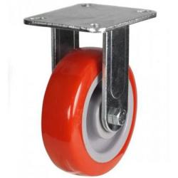 125mm Heavy Duty Poly Nylon Fixed castors - 340kg capacity