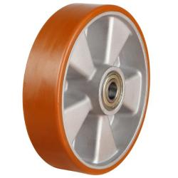125mm Heavy Duty Polyurethane On Aluminium Centre Castor Wheel