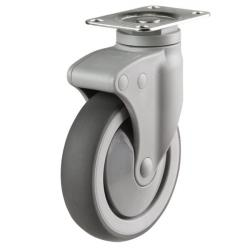 125mm Light Duty Non-Marking Rubber Swivel Castor - 100kg capacity