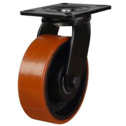 125mm Polyurethane On Cast Iron Swivel Castors