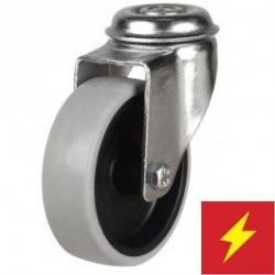 125mm Synthetic Non-Marking Antistatic Rubber Bolt Hole Castors
