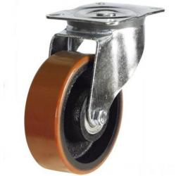 125mm medium duty swivel castor poly/cast wheel
