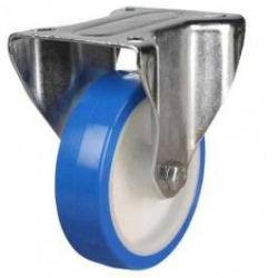 150mm Elasticated Polyurethane On Nylon Fixed Castors