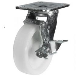 150mm Heavy Duty Nylon Braked castors - 500kg capacity