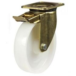 150mm Heavy Duty Nylon Braked castors - 700kg capacity