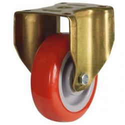 150mm Heavy Duty Poly Nylon Fixed castors - 430kg capacity