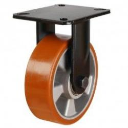 150mm Polyurethane On Aluminium Centre Fixed Castors
