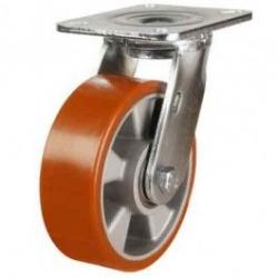 150mm Polyurethane On Cast Aluminium Swivel Castors