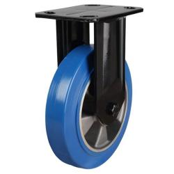 160mm Elastic Polyurethane On Aluminium Centre 80 Shore A Fixed Castors