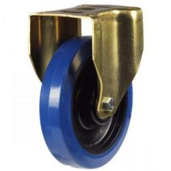 150mm Heavy Duty Rubber on Nylon Fixed castors - 350kg capacity