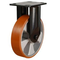 160mm Polyurethane On Aluminium Centre Heavy Duty Fixed Castors