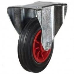160mm Rubber Tyre On Steel Disk Centre & Rubber Tyre On Plastic Fixed Castors
