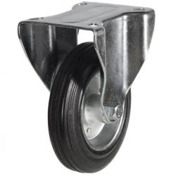 160mm Rubber Tyre On Steel Disk Centre & Rubber Tyre On Plastic Swivel Castors