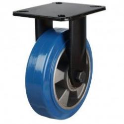 200mm Heavy Duty Elastic Polyurethane On Aluminium Centre 80 Shore A Fixed Castors