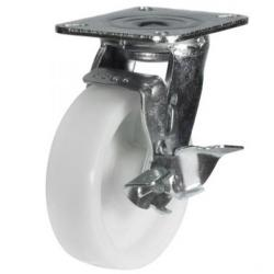 200mm Heavy Duty Nylon Braked castors - 500kg capacity