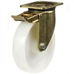 200mm Heavy Duty Nylon Braked castors - 800kg capacity