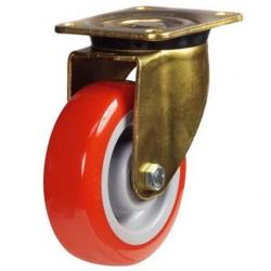 200mm Heavy Duty Poly Nylon Swivel castors - 430kg capacity