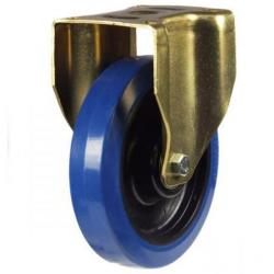200mm Heavy Duty Rubber on Nylon Fixed castors - 350kg capacity