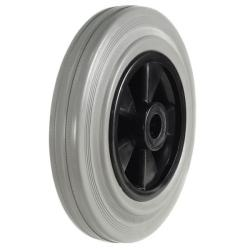 200mm Light Duty Grey Rubber On Plastic Centre Castors Wheel