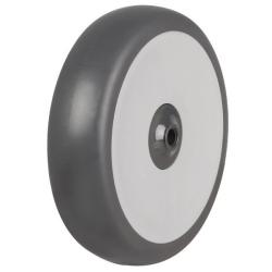 200mm Light Duty Rubber Tyre On Plastic Centre Wheel