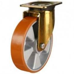 200mm Polyurethane On Aluminium Centre Swivel Castors