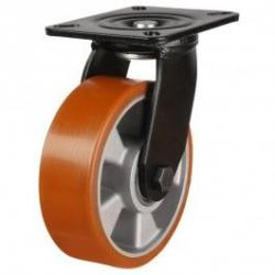 200mm Heavy Duty Polyurethane On Aluminium Centre Swivel Castors