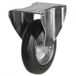 200mm Rubber Tyre On Steel Disk Centre & Rubber Tyre On Plastic Swivel Castors