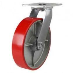 200mm  Polyurethane On Cast Iron Core Swivel Castors