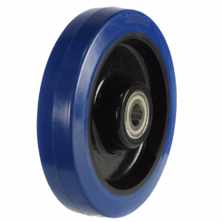 200mm / 400kg Blue Synthetic Rubber on Nylon Centre Wheel