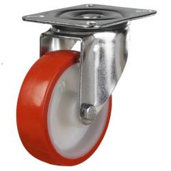 200mm medium duty Stainless Steel swivel castor poly/nylon wheel