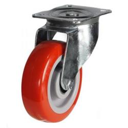 200mm medium duty swivel castor poly/nylon wheel