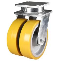 250mm Extra Heavy Duty Ultra Heavy Duty Polyurethane On Cast Iron Core Swivel Castors