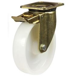 250mm Heavy Duty Nylon Braked Castors
