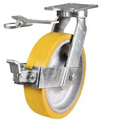 300mm Ultra Heavy Duty Polyurethane On Cast Iron Core Swivel Castors