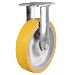 400mm Ultra Heavy Duty Polyurethane On Cast Iron Core Fixed Castors