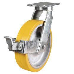 400mm Ultra Heavy Duty Polyurethane On Cast Iron Core Swivel Castors