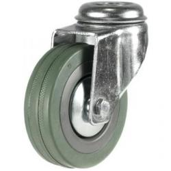 50mm Synthetic Grey Rubber Bolt Hole Castor Up To 40kg Capacity