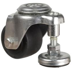 65mm Heavy Duty Black Nylon Bolt Hole Castors