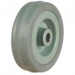 75mm Medium Duty Grey Rubber On Plastic Centre Castors Wheel