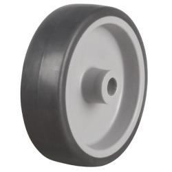 75mm Medium Duty Rubber Tyre On Plastic Centre Swivel Castors