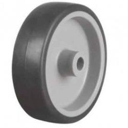 75mm Light Duty Non-Marking Grey Rubber Castor Wheel