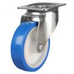 80mm medium duty swivel castor elastic poly/nylon wheel