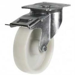 80mm Medium Duty Polypropylene Swivel Braked Castor