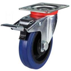 Braked castors 100mm wheel diameter upto 150 kg capacity