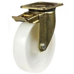 Braked castors 160mm wheel diameter upto 800kg capacity