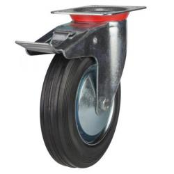 Braked castors 200mm wheel diameter upto 200 kg capacity