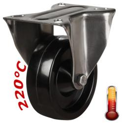 100mm Medium Duty High Temperature Resistant Steel Fixed Castors